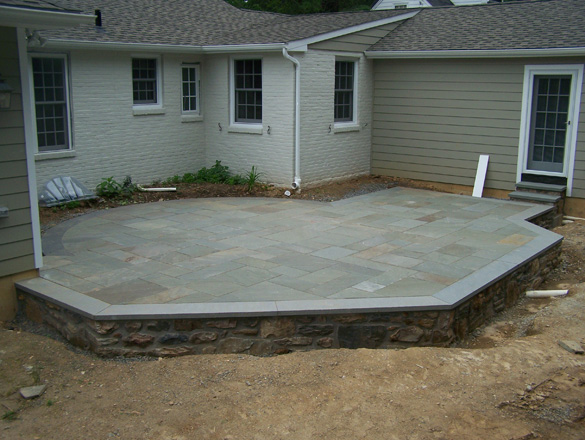 Fieldstone Rock Patios : Flagstone patios walkways lindsay s masonry